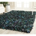 Safavieh Hand-woven Chic Green Shag Rug (8' Square)