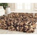 Safavieh Hand-woven Chic Brown Shag Rug (6' Square)