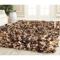 Safavieh Hand-woven Chic Brown Shag Rug (8' Square)