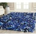 Safavieh Hand-woven Chic Blue Shag Rug (8' x 10')