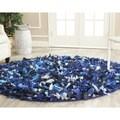 Safavieh Hand-woven Chic Blue Shag Rug (4' Round)