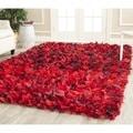Safavieh Hand-woven Chic Red Shag Rug (5' x 8')
