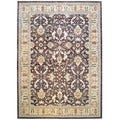 Afghan Hand-knotted Vegetable Dye Brown/ Beige Wool Rug (12&#39;9 x 17&#39;7)