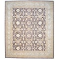 review detail Afghan Hand-knotted Vegetable Dye Brown/ Ivory Wool Rug (12'1 x 14'2)