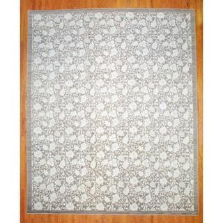 Afghan Hand-knotted Vegetable Dye Brown/ Ivory Wool Rug (12'8 x 15'3)