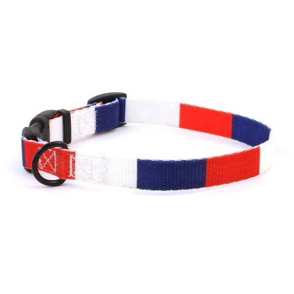 PatriaPet French Flag Dog Collar