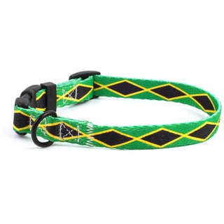 PatriaPet Jamaican Flag Dog Collar