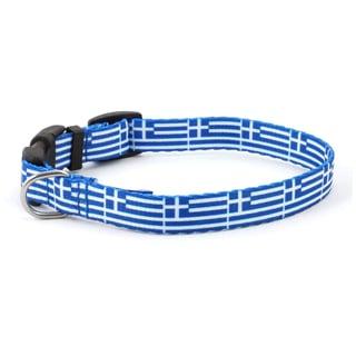 PatriaPet Greek Flag Dog Collar
