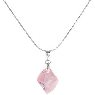 Jewelry by Dawn Small Pink Cosmic Crystal Sterling Silver Necklace