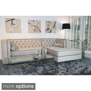Decenni Custom Furniture 8 foot Dove Tufted Sectional