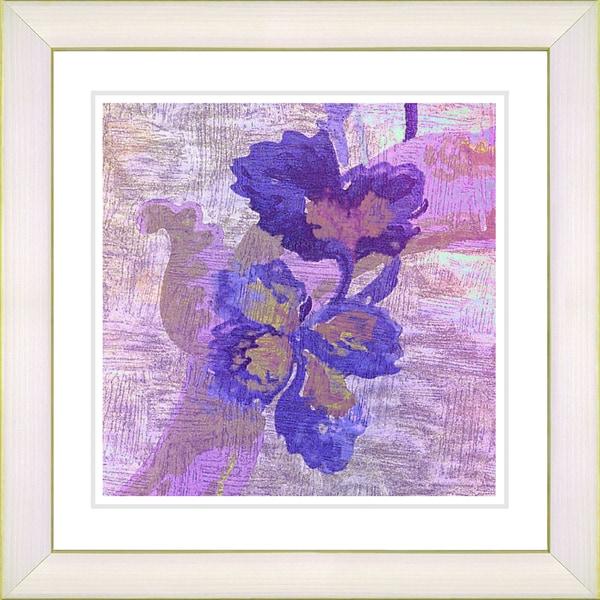 Zhee Singer 'Purple Sophia Flower' White Framed Print