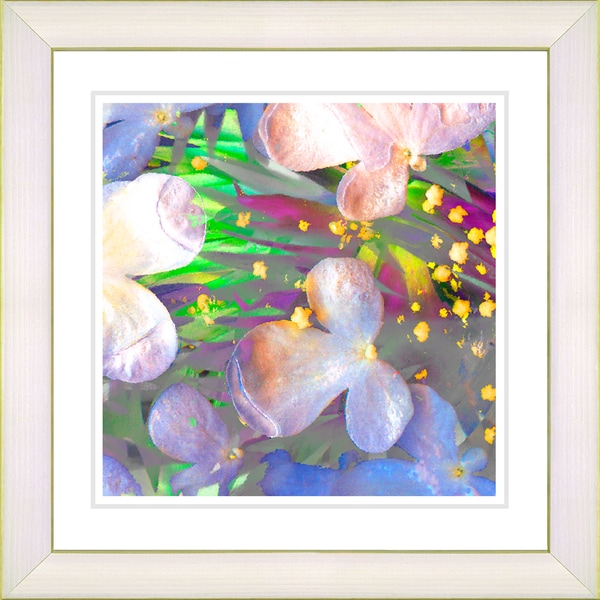 Studio Works Modern 'Party Flower - Yellow' Framed Print