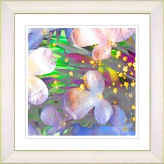 Studio Works Modern 'Party Flower - Yellow' Framed Print