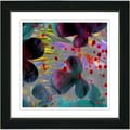 Studio Works Modern 'Party Flower - Red' Framed Print