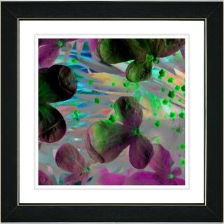 Studio Works Modern 'Party Flower - Green' Framed Print