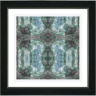 Studio Works Modern 'Turquoise Celtic Symmetry' Framed Print