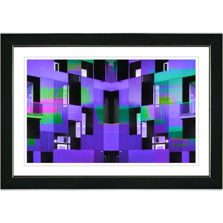 Studio Works Modern 'Purple Atrium Labyrinth' Framed Print