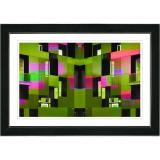 Studio Works Modern 'Green Atrium Labyrinth' Framed Print