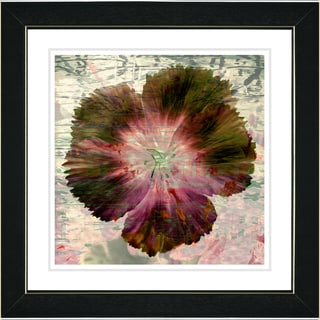 Studio Works Modern 'Floral Flair - Dusty Rose' Framed Print