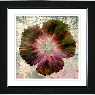 Studio Works Modern 'Floral Flair - Dusty Rose' Framed Print