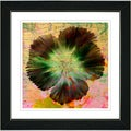 Studio Works Modern 'Floral Flair - Orange' Framed Print