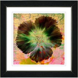 Studio Works Modern 'Floral Flair - Orange' Framed Print