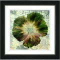Studio Works Modern 'Floral Flair - Olive' Framed Print