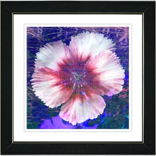 Studio Works Modern 'Floral Flair - Blue' Framed Print
