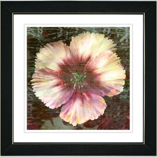 Studio Works Modern 'Floral Flair - Peach' Framed Print