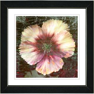 Studio Works Modern 'Floral Flair - Peach' Framed Print