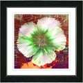 Studio Works Modern 'Floral Flair - Green' Framed Print