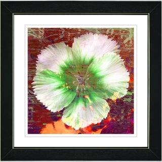 Studio Works Modern 'Floral Flair - Green' Framed Print