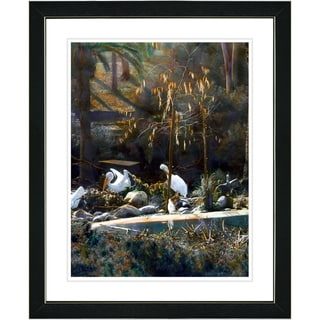 Studio Works Modern 'White Pelicans' Framed Print