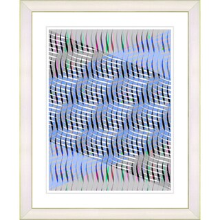 Studio Works Modern 'Blue Placidus' Framed Print