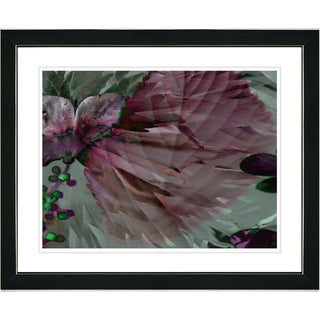 Studio Works Modern 'Dusk of Time Floral - Ruby' Framed Print