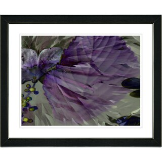 Studio Works Modern 'Dusk of Time Floral - Amethyst' Framed Print