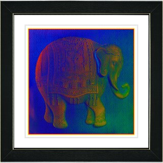 Studio Works Modern 'Babar in Blue' Framed Print