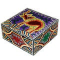 'Elephant' Aborigine Dot Art Box (Indonesia)