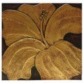 Hand-Carved 'Sari-Flower' Wall Panel (Indonesia)