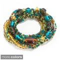 Melange Glass Bead Bracelet (India)