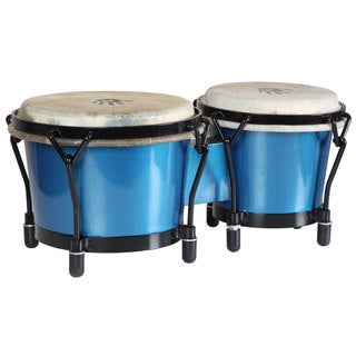 Blue Shimmer Bongo Drums (Indonesia)