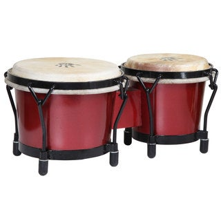 Red Shimmer Bongo Drums (Indonesia)