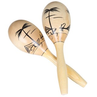 Set of 2 Wooden Maracas (China)