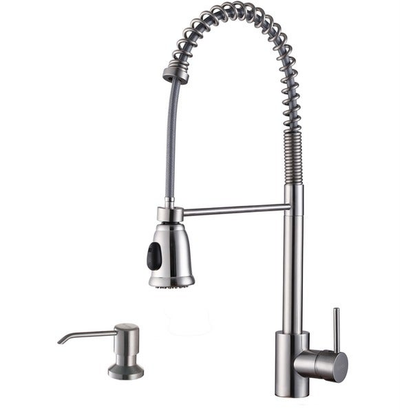 ruvati stainless steel commercial style kitchen faucet