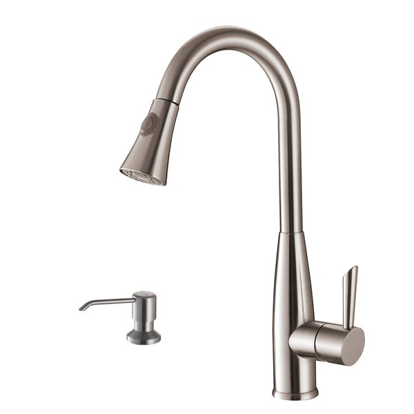 ruvati stainless steel pullout spray kitchen faucet with