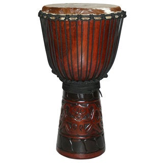 World Tribal Full Size Djembe Drum (Indonesia)