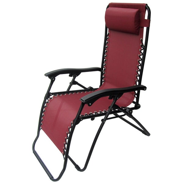 Caravan Canopy Burgundy Zero-Gravity Chair