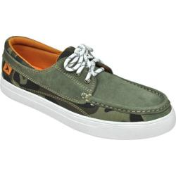 Men's Rugged Shark Lazy Jack Moss Green Suede/Canvas