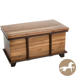 Christopher Knight Home Reed Acacia Wood Bench Ottoman