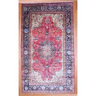 Persian Hand-knotted Mahal Red/ Black Wool Rug (10'5 x 18')
